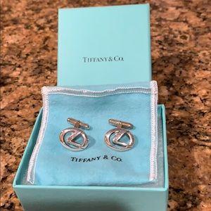 Tiffany & Co. Lexus L Cuff Links Sterling Silver!